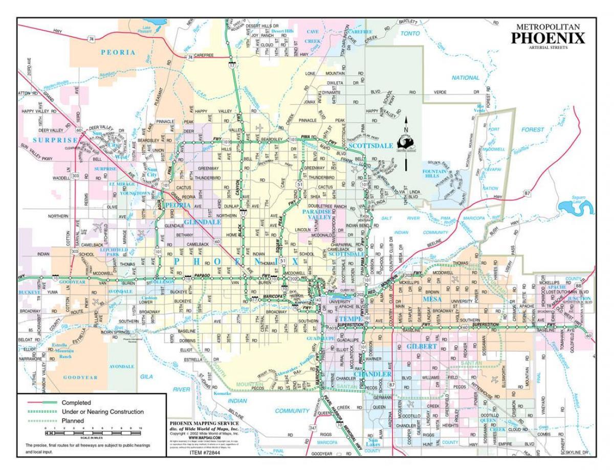 Phoenix-street-Landkarte - Street map-Phoenix (Arizona - USA)