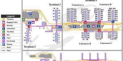 Phx airport terminal map - Phx-terminal anzeigen (Arizona - USA)